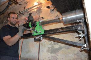 foto applicazione 1 - Unità di carotaggio Mod. PLE 182  2300 W  Power line