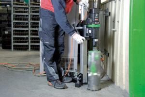foto applicazione 1 - Unità di carotaggio Mod. DBE 250 R  2500 W